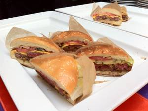Samples of Batali's burgers-to-be were enjoyed at the Carnevale kick-off party at Palazzo on June 1.