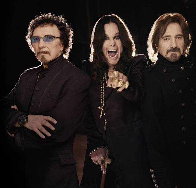 Iron Men (From left) Iommi, Osbourne and Butler, together on record for the first time in 35 years.