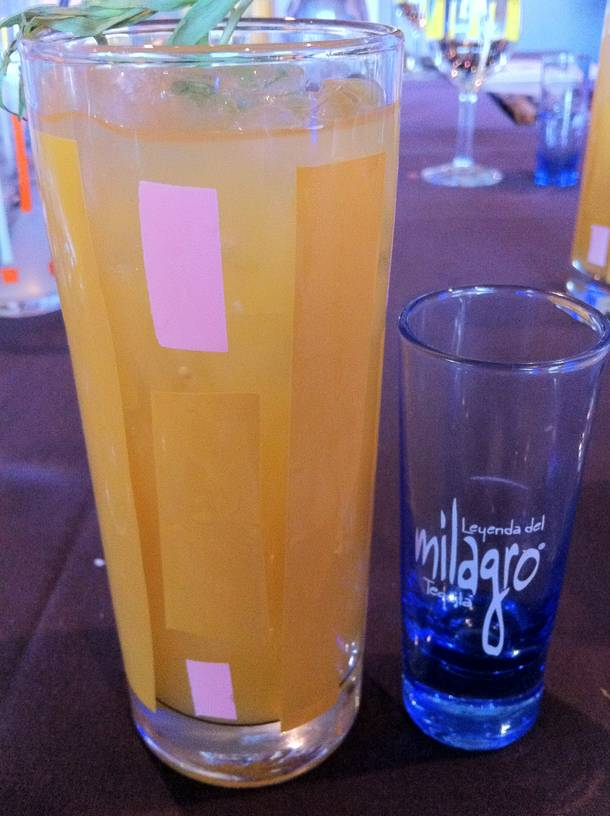 The tangerine-tarragon margarita with Milagro silver tequila was a favorite at Border Grill's tequila dinner on June 6.