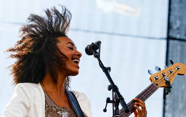 Esperanza Spalding performs at the Austin City Limits Music Festival in 2012.