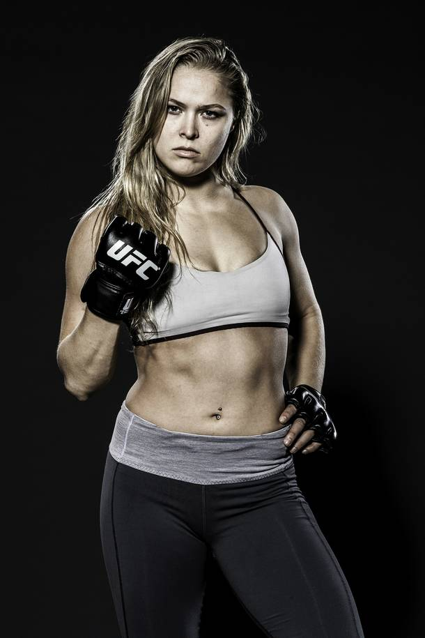 Ronda Rousey can't wait to get into the cage for her December 28 title fight with Miesha Tate at MGM Grand Garden Arena.