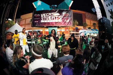 Great local hip-hop was on display at the Jackie Gaughan Plaza.
