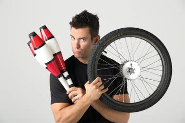 Comedy juggler Jeff Civillico serves up laughs at the Quad.