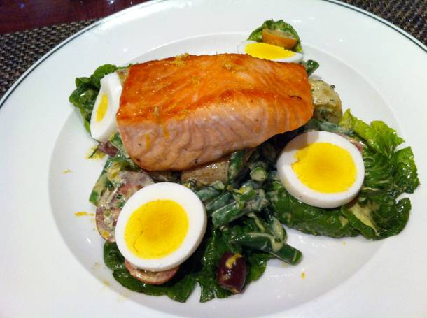 Salmon Nicoise at the Henry, part of the special three-course Dinner and a Movie menu.