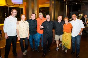 They're so trashy: The chefs behind the Trash Fish Dinner at Border Grill on July 22, 2013.