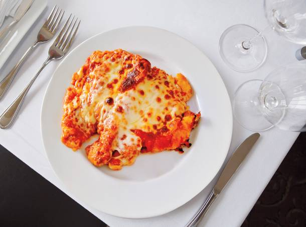 Cafe Chloe's classic chicken parmigiana.