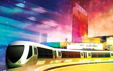 Trains on the road would connect UNLV to the Huntridge and other Downtown hangouts.