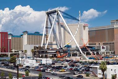 The Linq's 550-foot observation wheel looks like something from a science fiction flick.