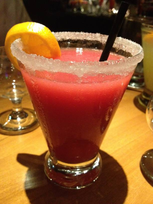 Watermelon raspberry margarita