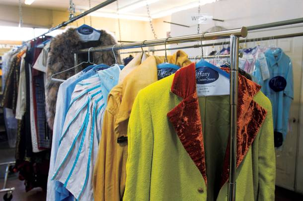 With garments being dropped off by Zarkana, Absinthe and Jersey Boys, Monday mornings are Tiffany Cleaners' busiest day.