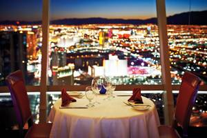 How the other half eats: Stratosphere's Top of the World restaurant.