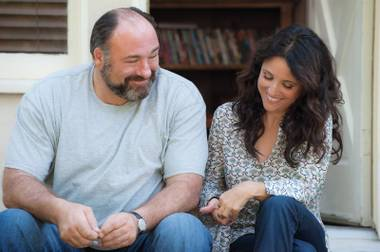 James Gandolfini and Julia Louis-Dreyfus in a tender moment from Enough Said.