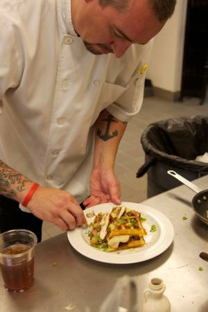 Chef Johnny Church is perfecting his breakfast skills while preparing a menu for the MTO Café.