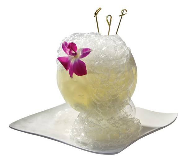 Science experiment or cocktail? Geisha House's Bubble Wrap is a little of both.