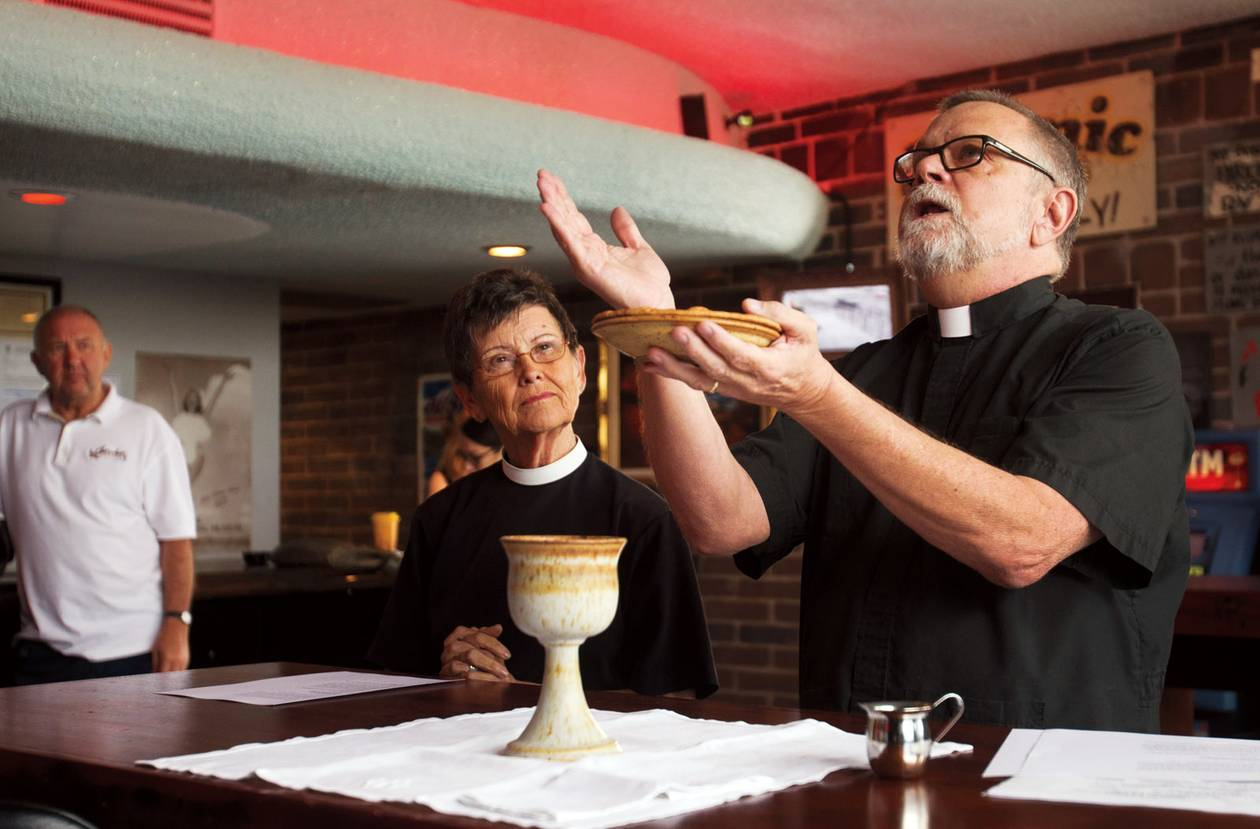 Atomic Liquors' Pub Church offers an alternative to the Sunday norm.