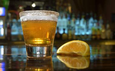 The Santa Fe saloon pairs Shock Top with Grey Goose L'Orange for the holiday-inspired cocktail.