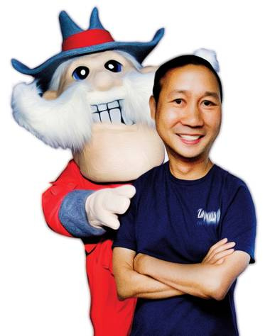 Tony Hsieh is a mascot for Downtown, and efforts are underway to engage UNLV in his vision.