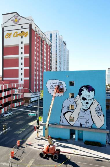 Artists are painting works on more than a dozen Downtown walls.