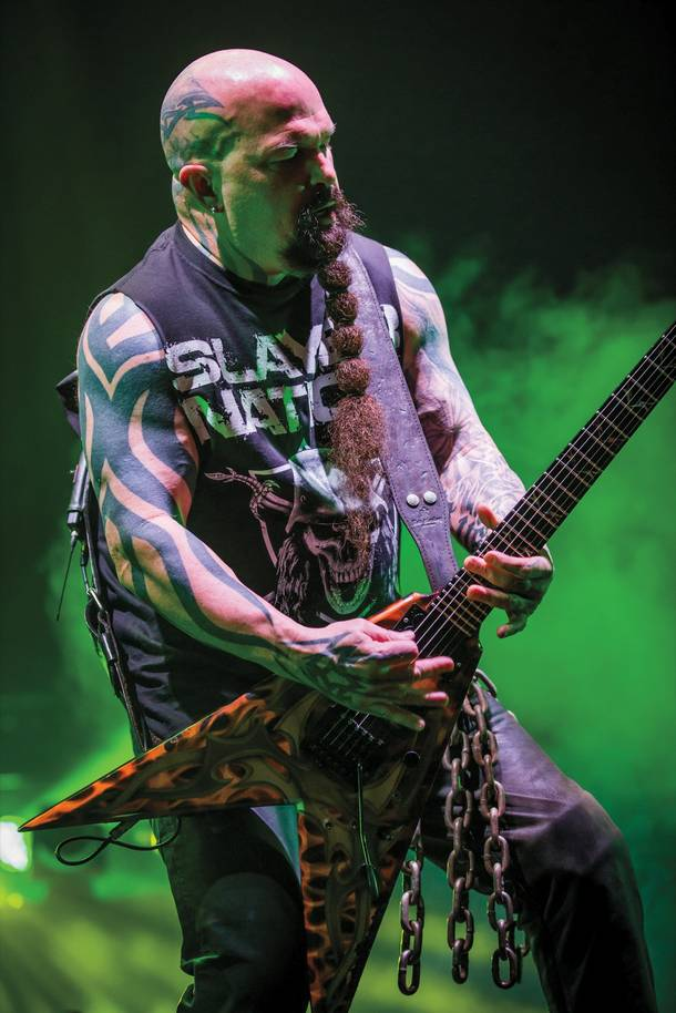 Slayer's Kerry King shreds away at the Joint.