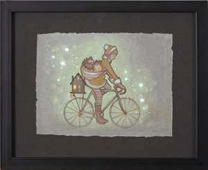 Amy Sol is among the artists who donated work for Hammer & Cycle's Bikes for Brats charity auction.