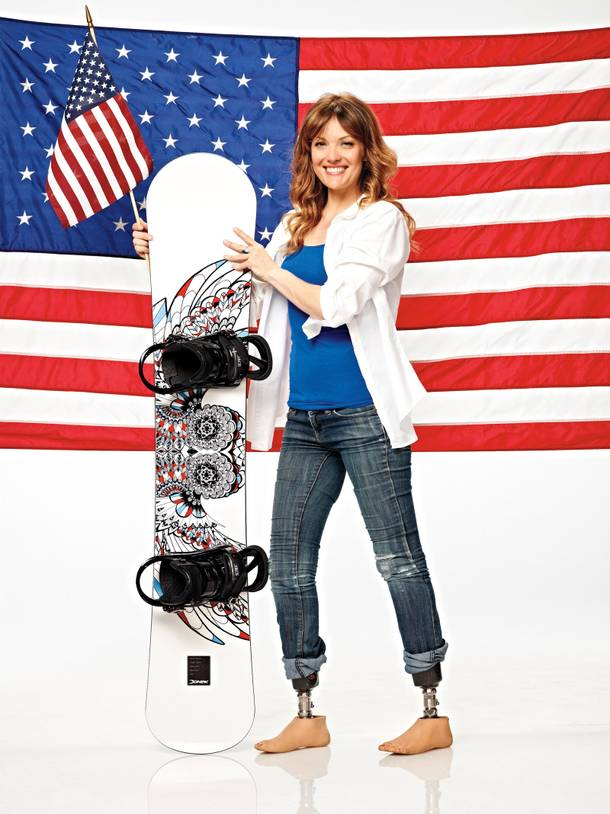 Battling back: Snowboarder Amy Purdy will represent the U.S. in the Sochi Paralympics.
