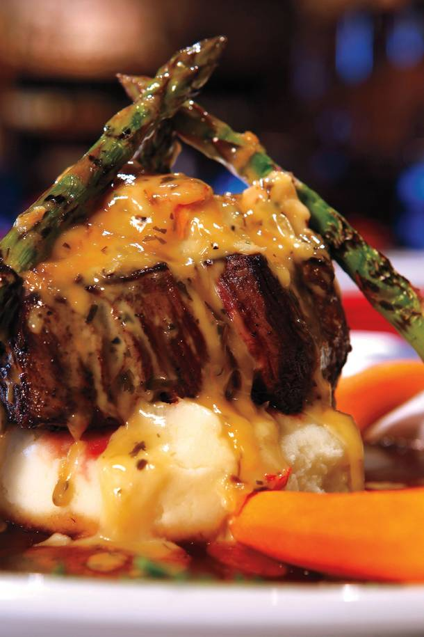 A perennial favorite: Grape Street's filet Oscar.