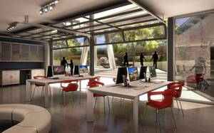 A rendering of a classroom at the Modern's Center for Creativity. The Modern is a new contemporary art museum and cultural center planned for the Arts District.