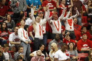 The Runnin' Rebel Pep Band gets UNLV fans on their feet with current radio hits and time-honored jock jams.