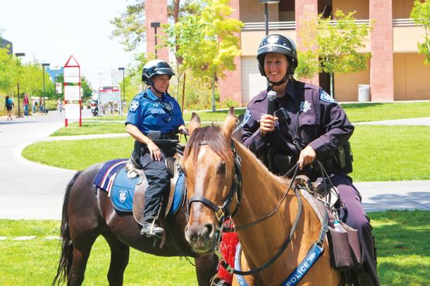 UNLV's Mounted Police Unit recently suspended operations due to a