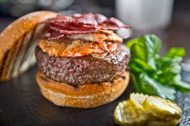 The Surf, Turf and Air Wagyu Kobe Burger combines beef, crab and duck, plus truly decadent condiments.