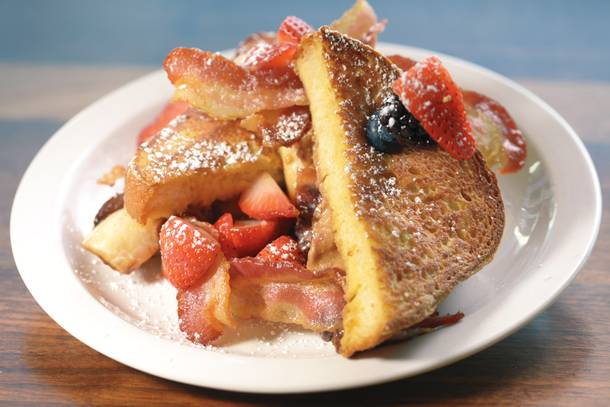 MTO's Fat Elvis, a sandwich on French toast, because why not?