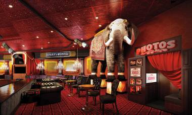A rendering of Jeff Beacher's new venue at MGM Grand. The elephant definitely plays a key part.