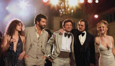 Amy Adams, Bradley Cooper, Jeremy Renner, Christian Bale and Jennifer Lawrence make up one of the greatest casts of the year in David O. Russell's American Hustle.