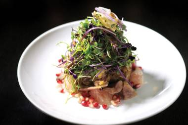 Hakkasan's crispy duck salad was one of the top new dishes of the year.