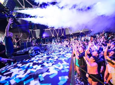 Calvin Harris spun for the masses at Hakkasan on New Year's Eve.