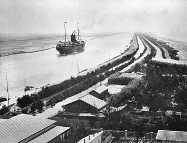 The Suez Canal and the U.S. transcontinental railroad were under construction when Nevada was admitted into the Union.
