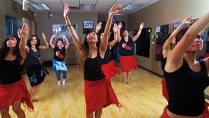 Las Vegas Hula Studio can teach you some culture and work on your waistline.