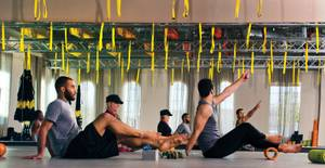 The Tru Trigger Point class at TruFusion Yoga blends yoga with the latest exercise trends like TRX.