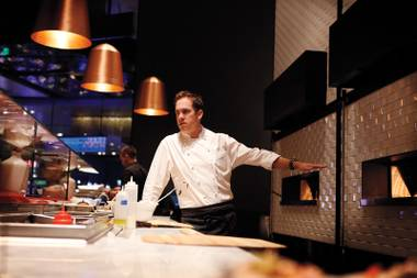 Chef Shawn McClain opened Five50 Pizza Bar last year at Aria, also the location of his fine dining room Sage.