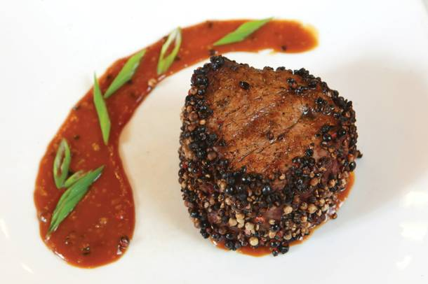 Try a peppercorn-crusted filet at Sunset Station's Sonoma Cellar steakhouse.