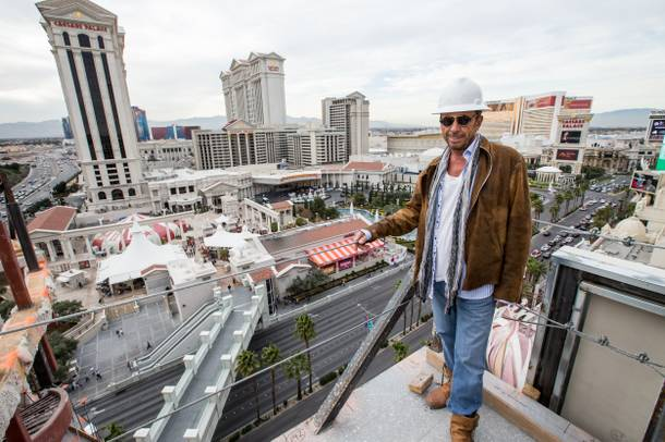 Victor Drai takes in the view from the top of the Cromwell, where his Beach Club and Nightclub will open Memorial Day Weekend.