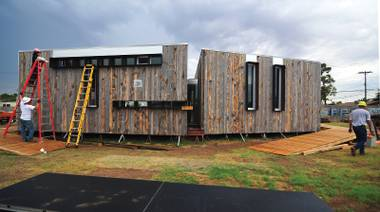The residence took second place in the U.S. Department of Energy's international Solar Decathlon last year.