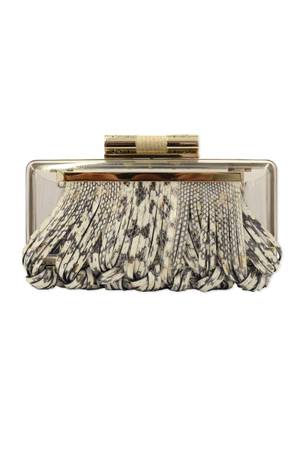 A Katherine Kwei snakeskin-patterned clutch