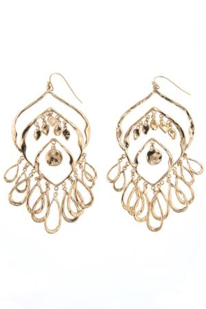 Lee Angel gold chandelier earrings