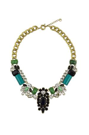 A pop-art floral necklace by Slate & Willow, a Rent the Runway line