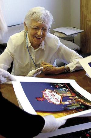 Betty Willis, designer of the Moulin Rouge and Welcome to Fabulous Las Vegas signs.