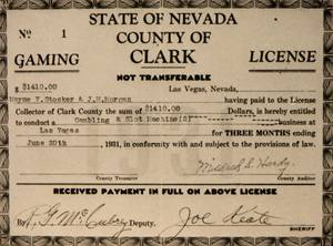 Mayme Stocker was issued the county's first gaming license.