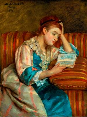 Mary Stevenson Cassatt, Mrs. Duffee Seated on a Striped Sofa, Reading, Bequest of John T. Spaulding, Photography 2013 Museum of Fine Arts, Boston.
