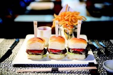 Andrea's Wagyu beef sliders are the perfect pre-party bite.
