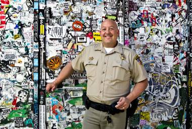 Wordsmith with a badge: Downtown's resident poet-cop, Harry Fagel.